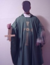 My new Kyaaist began to feel the need to show me that he has truly become a Kyaaist so he sent these photos of himself desecrating the cross.