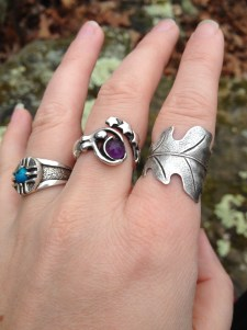 I bought matching oak leaf rings for us.