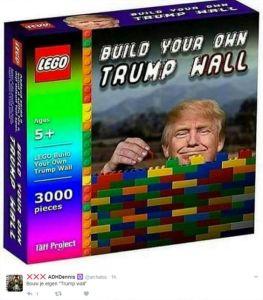 sjove billeder trump mur