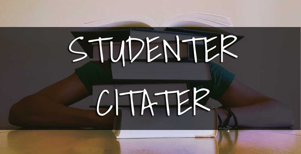 studenter citater
