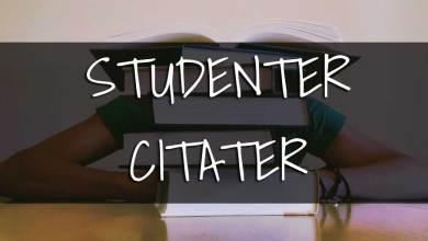Photo of Studenter citater