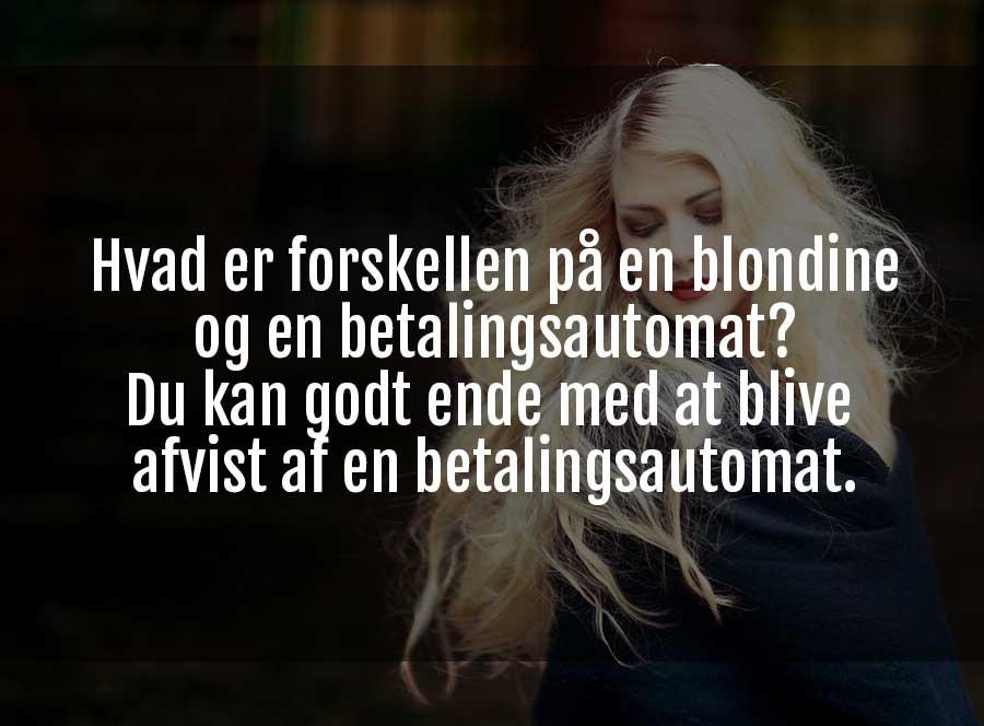 sjove jokes om blondiner