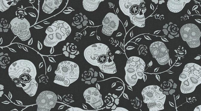 Cheap skull wallpaper uk for Cheap black wallpaper