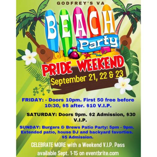 Pride Weekend Beach Party - 2018