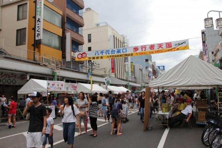 八千代台東商店街エポラ通り歩行者天国での出会い