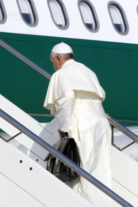pope with bag