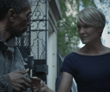 claire underwood homeless man