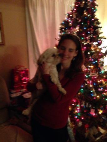 Kate and her dog Iggy
