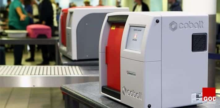 Insight100 (Cobalt Lights Systems Ltd) scanner for noninvasive analysis of bottles at airports.