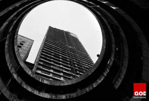 A view from the atrium. The Tower has long been a symbol of Venezuela's failed hopes and dreams. Credit: Vocativ/Oscar B. Castillo