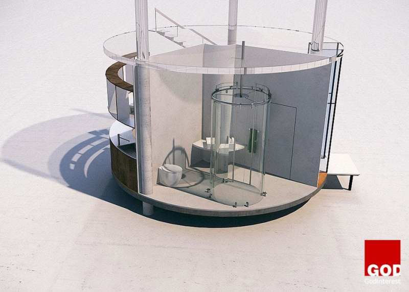 THIS AMAZING TUBULAR GLASS HOUSE IS BUILT AROUND A TREE