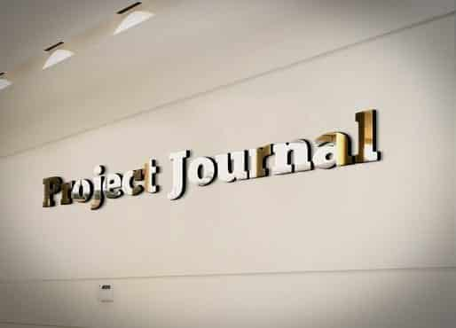 Project Journal 3D Logo In Silver