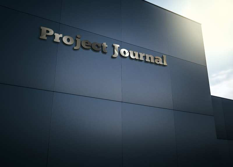 Project Journal 3D Logo External On Side Of Building