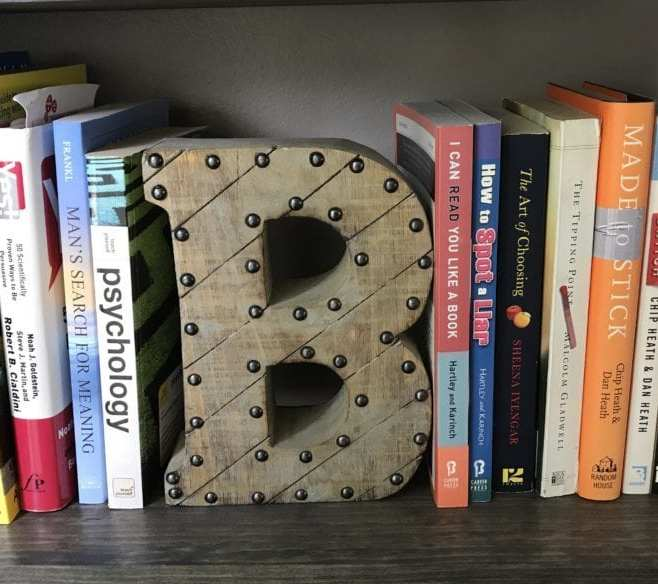 bible on bookcase