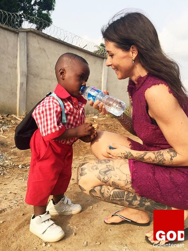 Heartbreaking images were shared on social media two months ago of the Nigerian toddler, named Hope,