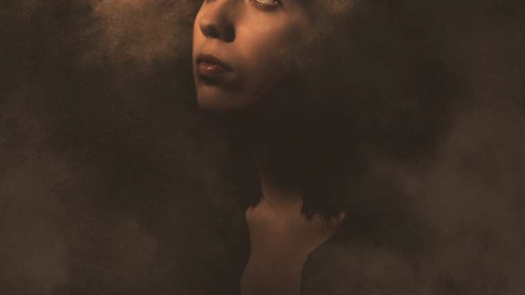 woman surrounded by smoke illustration Photo by Shelby Miller