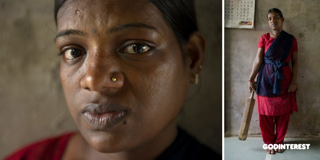 Geeta's husband used to come home drunk and beat her with the wooden cricket bat pictured. Violence against women is a major public health problem in Asia and a violation of women's human rights. The majority of this violence is intimate-partner violence, estimated to be 30 percent worldwide.