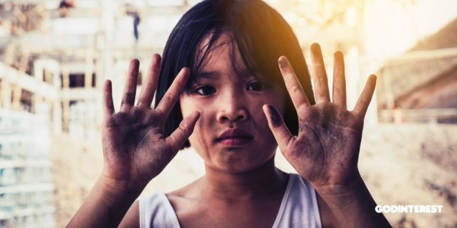 These are the hands of a child, covered in filth from doing construction work. Thousands of children, just like this one, can't go to school because they are caught in bonded labor. Some 31 million girls of primary-school age are not in school. Seventeen million of these are expected to never enter school.