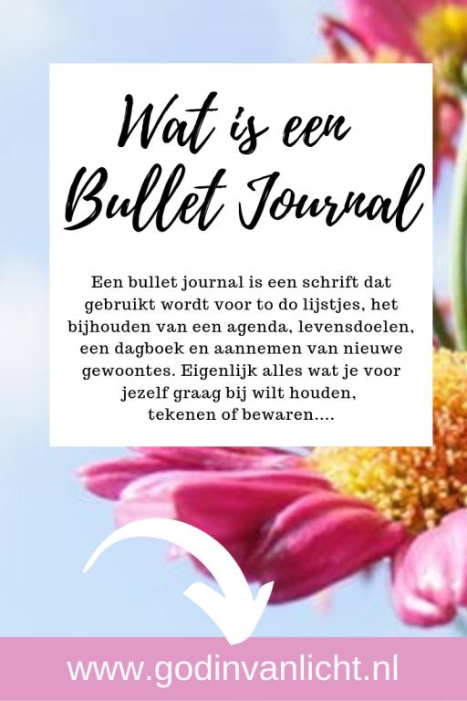 Een bullet journal is een leeg schriftje dat gebruikt wordt voor to do lijstjes, het bijhouden van een agenda, levensdoelen, dagboek en aannemen van nieuwe gewoontes. www.godinvanlicht.nl