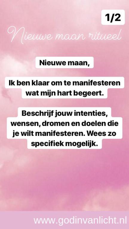 Nieuwe maan ritueel tekst 1 van 2. www,godinvanlicht.nl