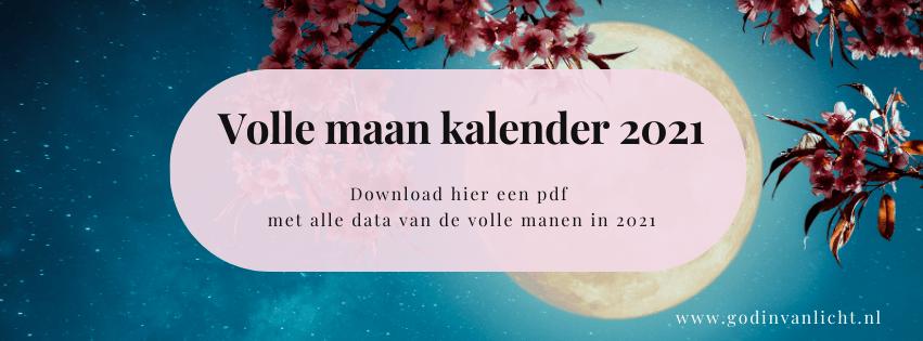 volle maan kalender data