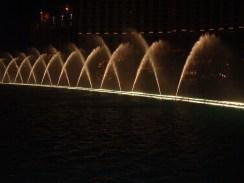 Dancing water fountain at Bellagios
