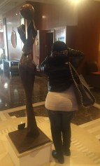 Me being silly w/the lobby beauty