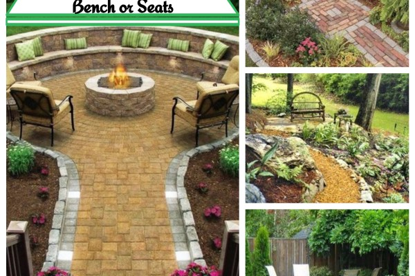 15 Beautiful Backyard Landscaping Ideas with Bench or Seats