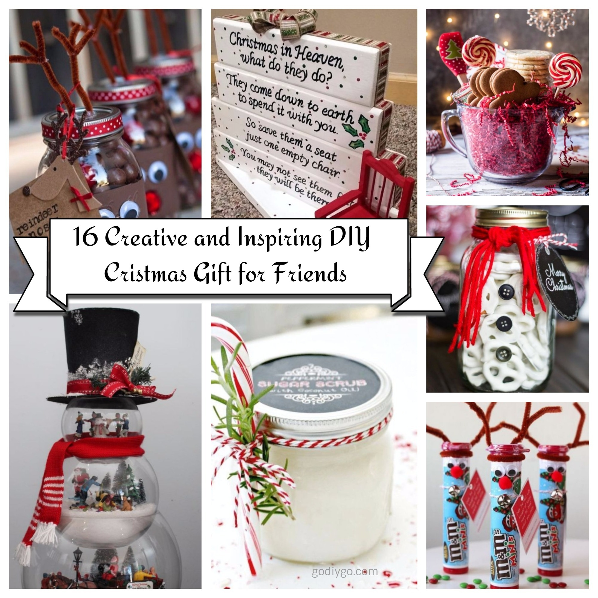 16 Creative and Inspiring DIY Christmas Gift for Friends - GODIYGO.COM