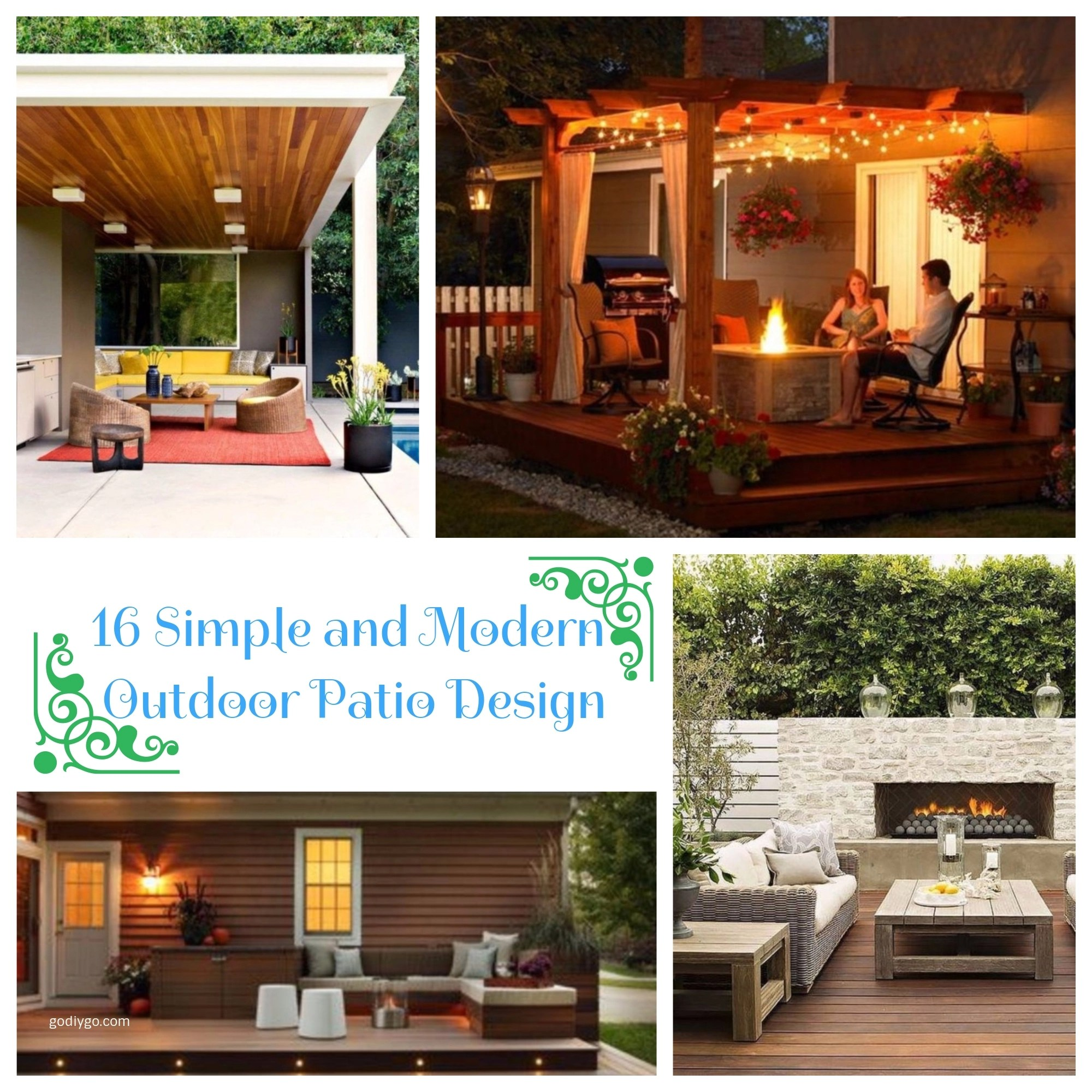 16 Simple And Modern Outdoor Patio Design