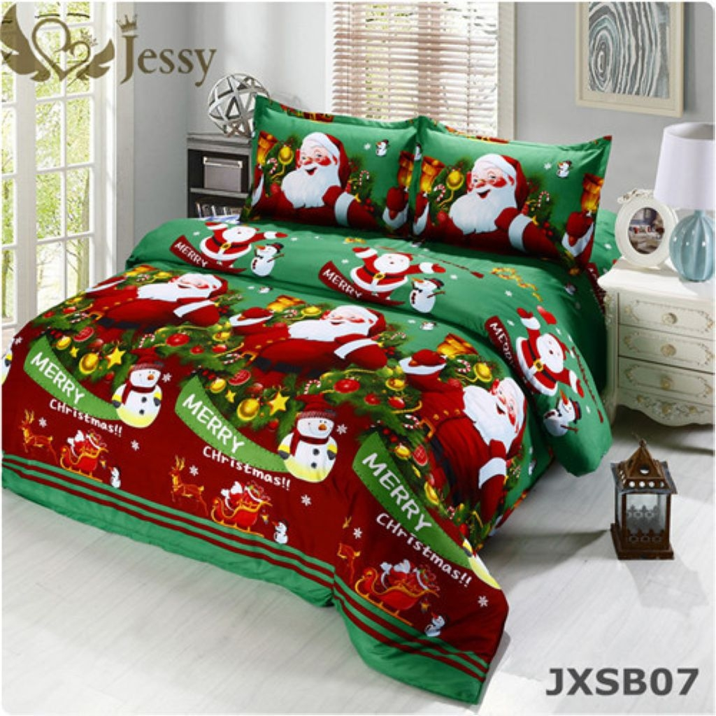 3d bedding sets merry christmas santa claus and gift for children