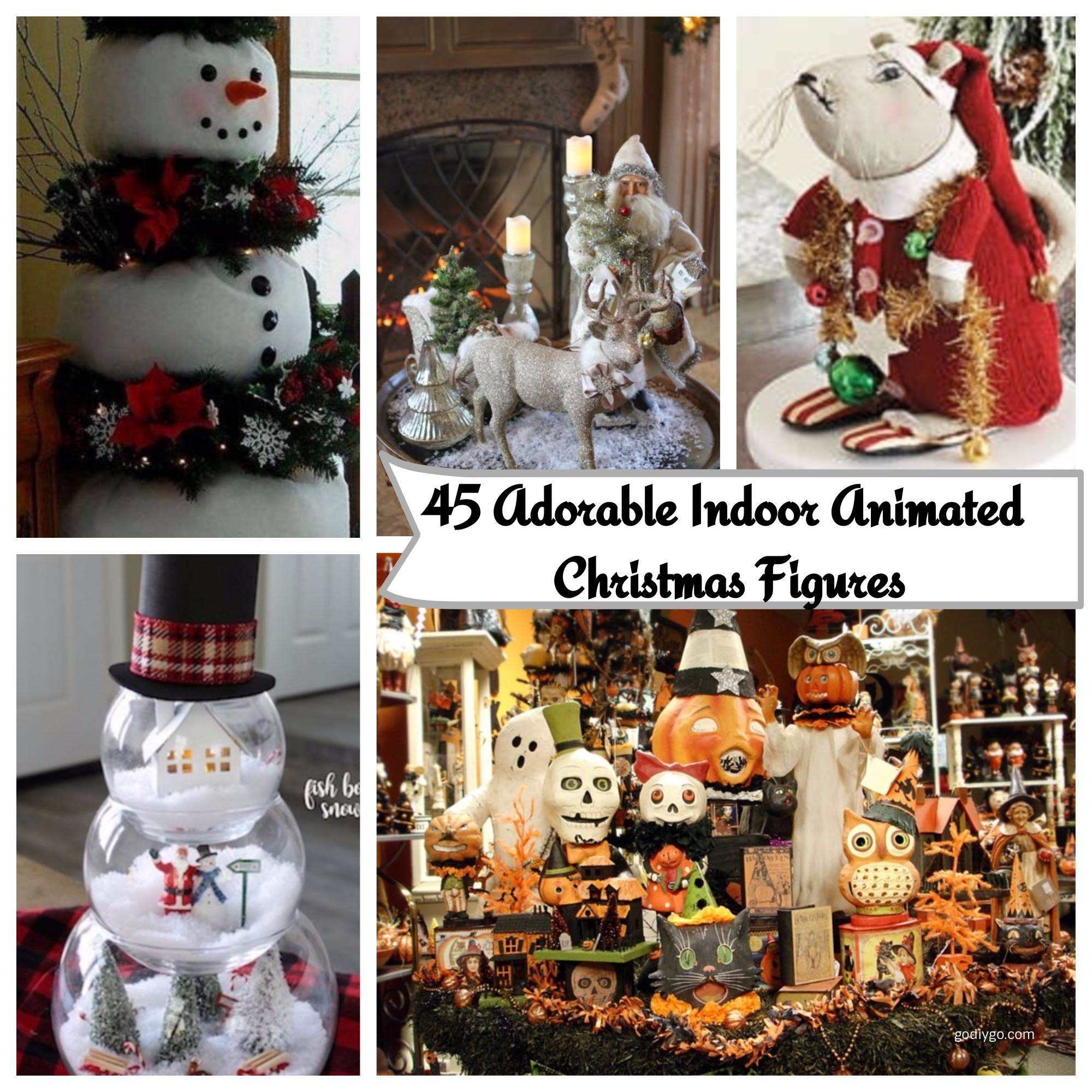 45 adorable indoor animated christmas figures godiygocom