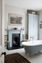 Astonishing and cozy bathrooms design ideas with fireplace 16
