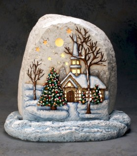Beautiful christmas rock painting ideas (33)