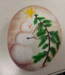Beautiful christmas rock painting ideas (7)