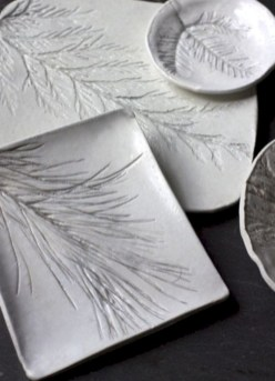 Creative diy dishes made from clay leaves 30