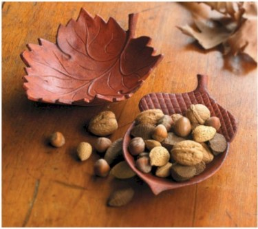 Creative diy dishes made from clay leaves 31