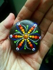 Diy cristmas painted rock design 28