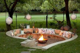 Diy outdoor fireplace and firepit ideas 05