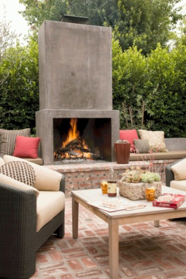Diy outdoor fireplace and firepit ideas 07