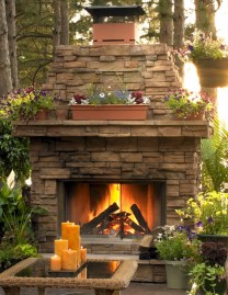 Diy outdoor fireplace and firepit ideas 14