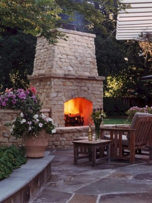 Diy outdoor fireplace and firepit ideas 24