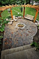 Diy outdoor fireplace and firepit ideas 29