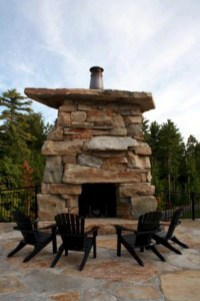 Diy outdoor fireplace and firepit ideas 30