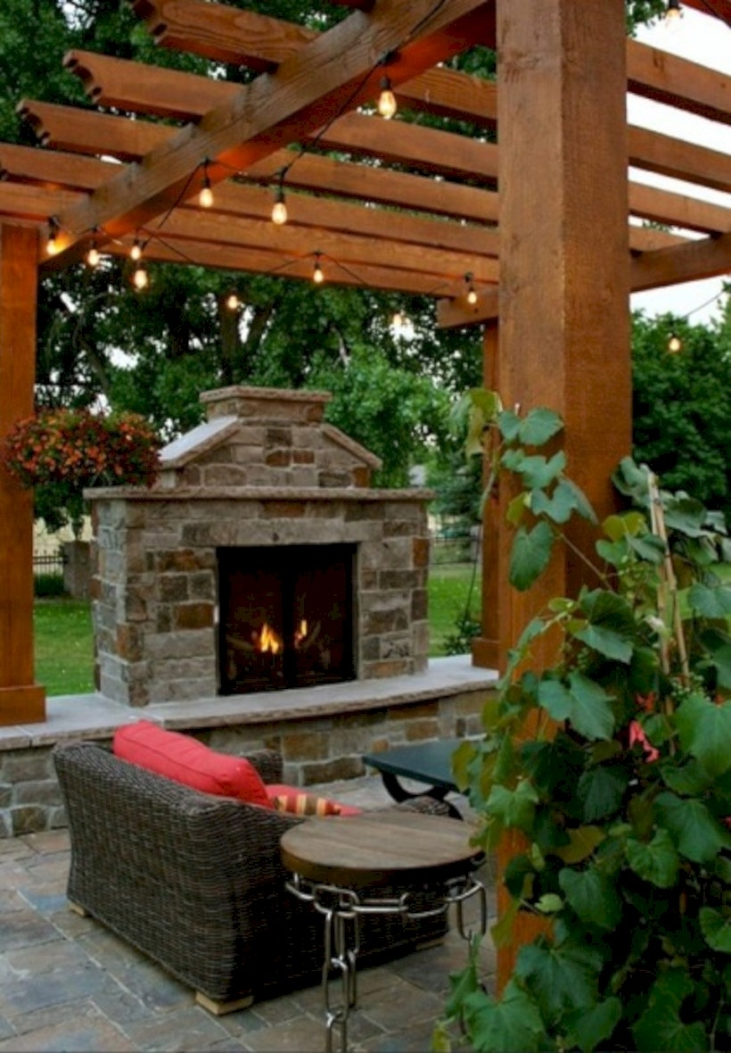 37 DIY Outdoor Fireplace and Fire pit Ideas - GODIYGO.COM on Diy Outside Fireplace id=18667