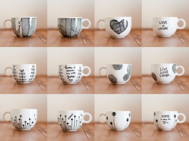Diy painted porcelains to decorate your home 14