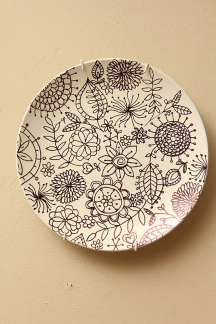 Diy painted porcelains to decorate your home 39