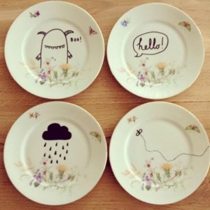 Diy sharpie dinnerware ideas 24