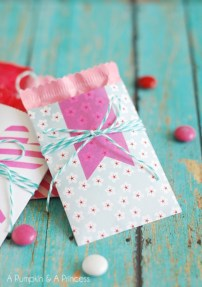 Diy small gift bags using washi tape (25)