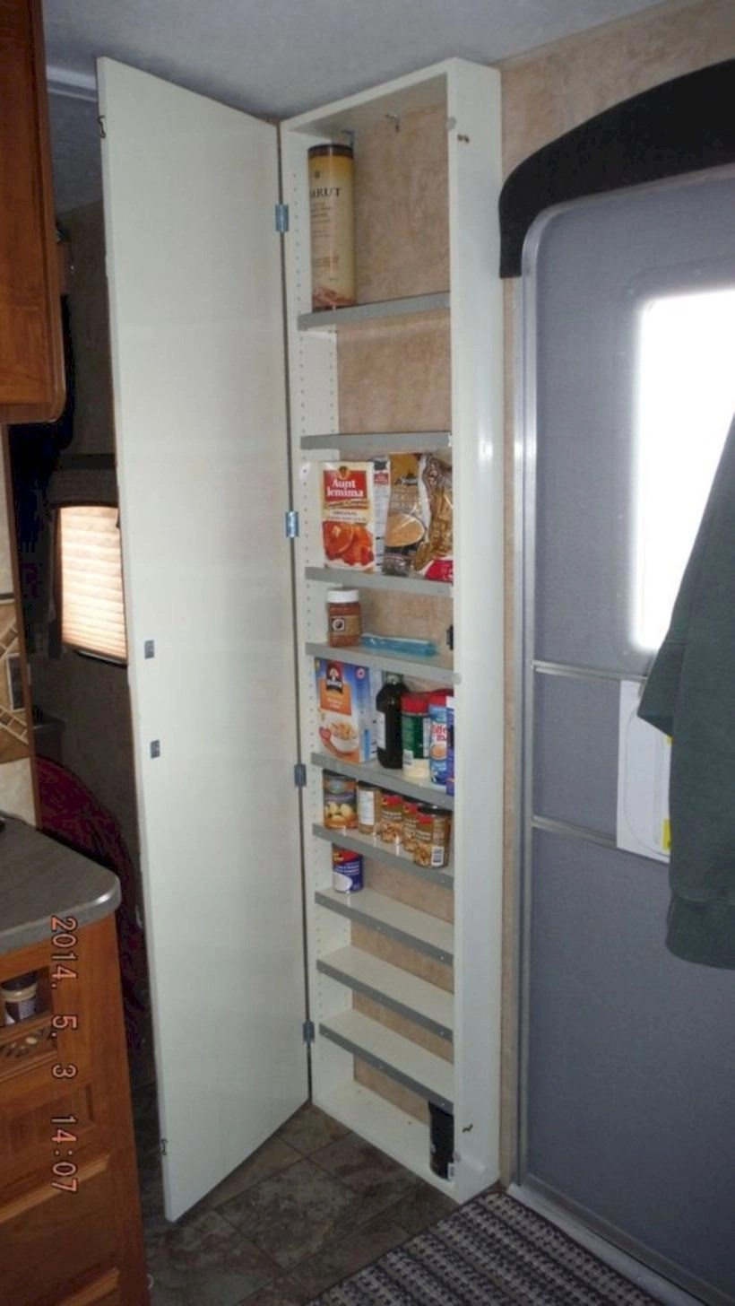 Diy pantry makes great use of wasted space in the rv